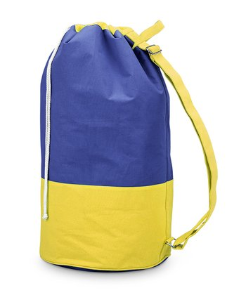 Navy & Yellow Color Block Camp Duffel