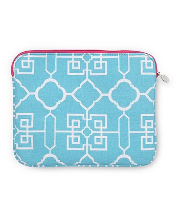 Turquoise Lattice Cover for iPad