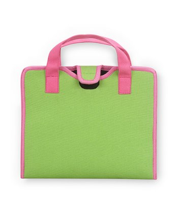 Green & Pink Color Block Cover for iPad