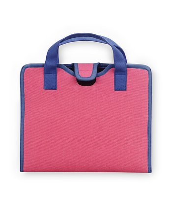 Pink & Navy Color Block Cover for iPad