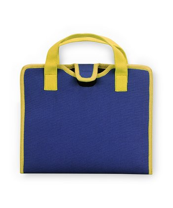 Navy & Yellow Color Block Cover for iPad