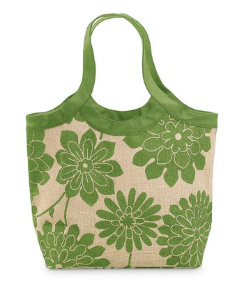 Green & Natural Jute City Tote