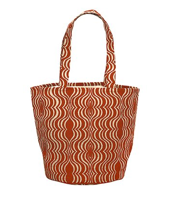 Orange & Natural Jute Hampton Bag