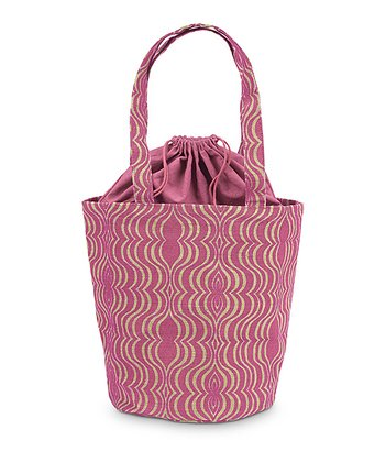 Pink & Natural Jute Hampton Bag