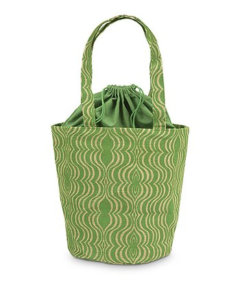 Green & Natural Jute Hampton Bag