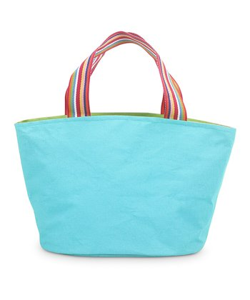 Turquoise & Green Color Block Little Bettie Bag