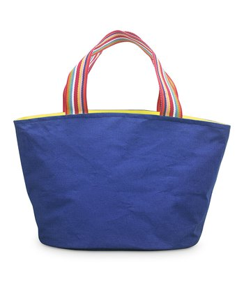 Navy & Yellow Color Block Little Bettie Bag