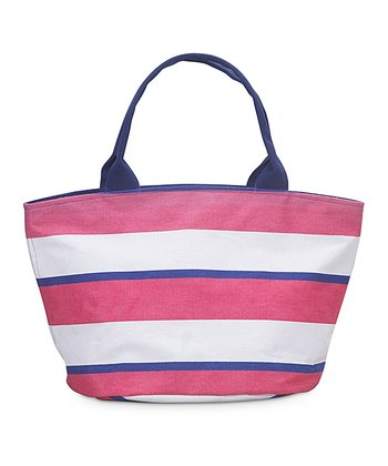 Pink & Navy Chesapeake Little Bettie Bag