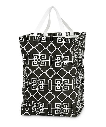 Black Lattice Large Crunch Tote