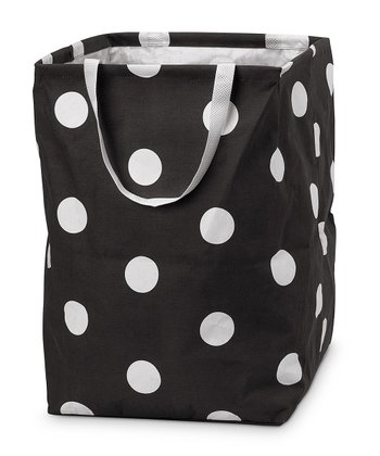 Black Team Dot Large Crunch Bag