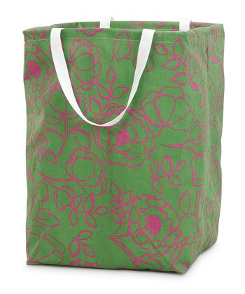 Pink & Green Camelot Large Crunch Tote