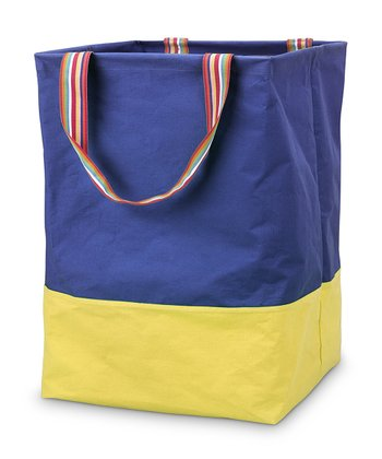 Navy & Yellow Color Block Large Crunch Tote