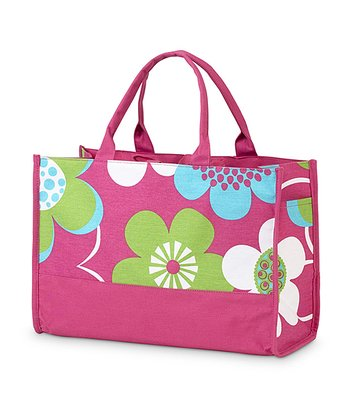 Pink Bloom-a-Licious Side Pocket Lot Tote