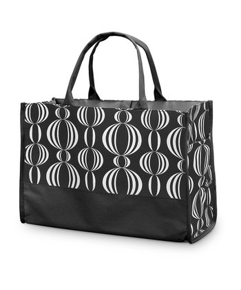 Black Pearly Girly Open Tote