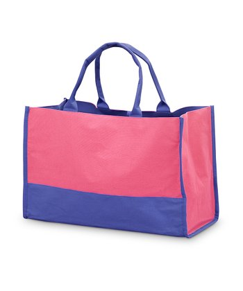 Pink & Navy Color Block Lot Tote