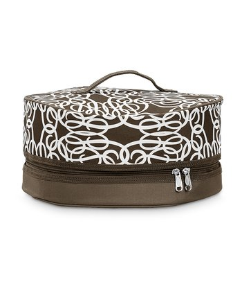 Brown Classic Curls Dessert Carrier