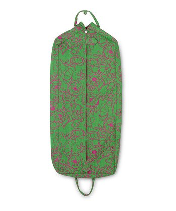 Pink & Green Camelot Quilted Garment Bag