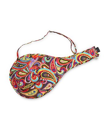 Paisley Pizzazz Quilted Tennis Racket Cover