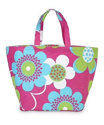 Pink Bloom-a-Licious Beach Catchall Tote
