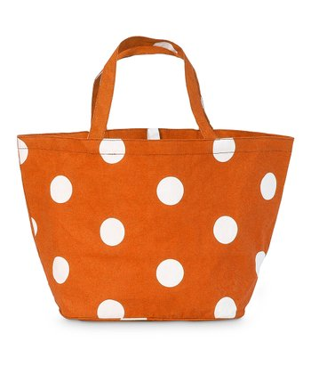 Orange Team Dot Catch All Tote