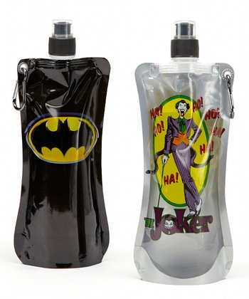Batman 20-Oz. Foldable Bottle - Set of Two