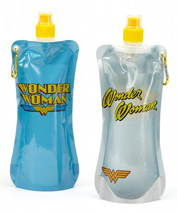 Wonder Woman 20-Oz. Foldable Bottle - Set of Two