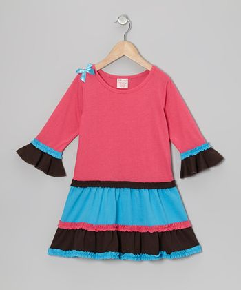 Pink Tiered Ruffle Dress - Toddler