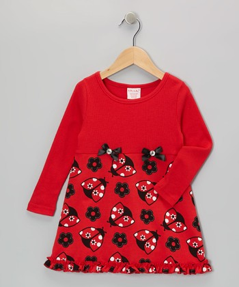 Red Ladybug Dress - Toddler