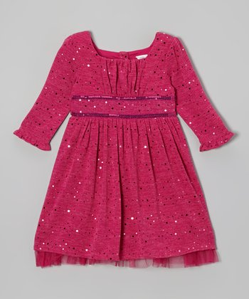 Pink Sequin Tulle Dress - Toddler & Girls