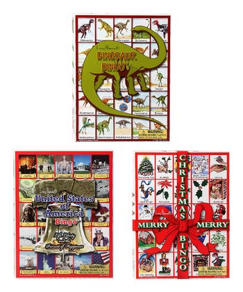 Christmas, Dinosaur & USA Bingo Game Set