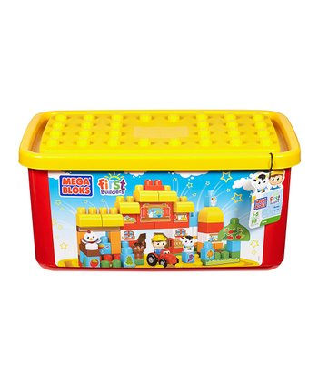 First Builders Tub-Town Farm Block Set
