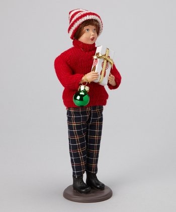 Green Ornament Christmas Caroler Figurine