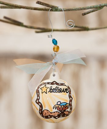'Believe' Ball Ornament