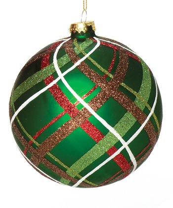 Green Plaid Ornament