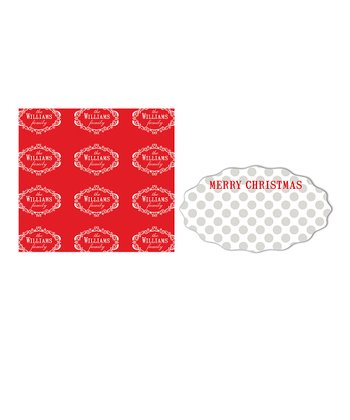 Fancy Ornaments Personalized Wrapping Paper & Sticker Set