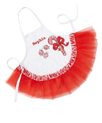Zebra Candy Cane Personalized Apron - Kids