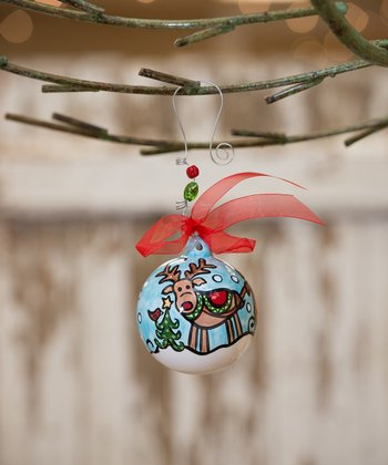 Reindeer & Sleigh Personalized Ornament