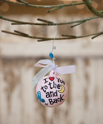 Pink 'To the Moon and Back' Personalized Ornament