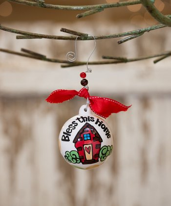 'Bless This Home' Personalized Ornament