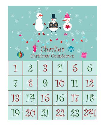 Blue-Green Friends Personalized Christmas Countdown Calendar