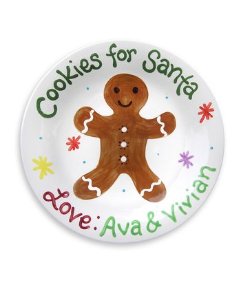 Gingerbread Cookie Personalized Plate