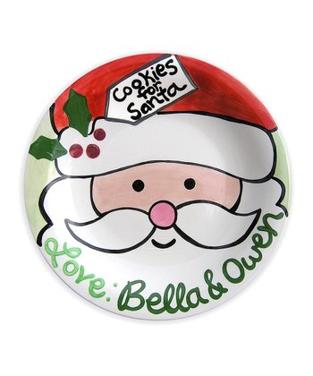 'Cookies for Santa' Personalized Plate