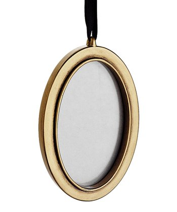 Gold Oval Silhouette Ornament