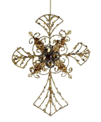 Bead Cross Ornament