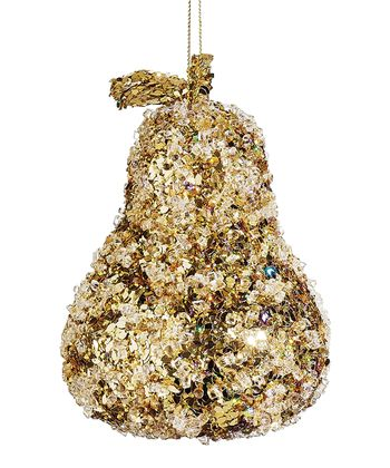 Glitter Pear Ornament