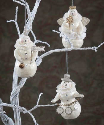 Celebrate Snow Ornament Set