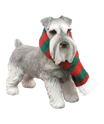 Green & Red Scarf Schnauzer Ornament