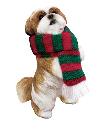 Gold Standing Shih Tzu Ornament