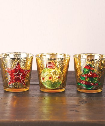 Holiday Votive Candleholder Set