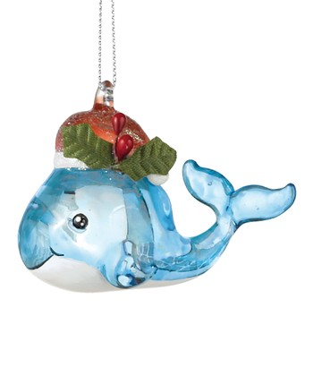 Christmas Whale Ornament